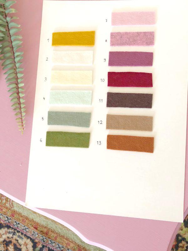 kleurenkaart vilt