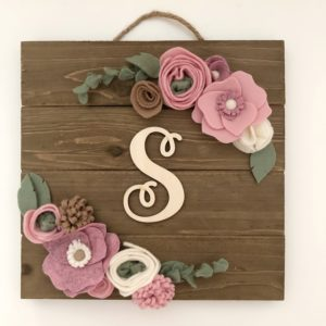 houten bordje met letter