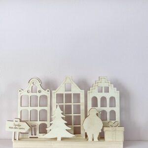 houten kerst huisje